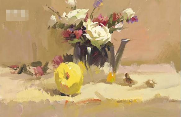 杭州艺考画室色彩静物教程:水果的暗部总是画得脏兮兮的,03
