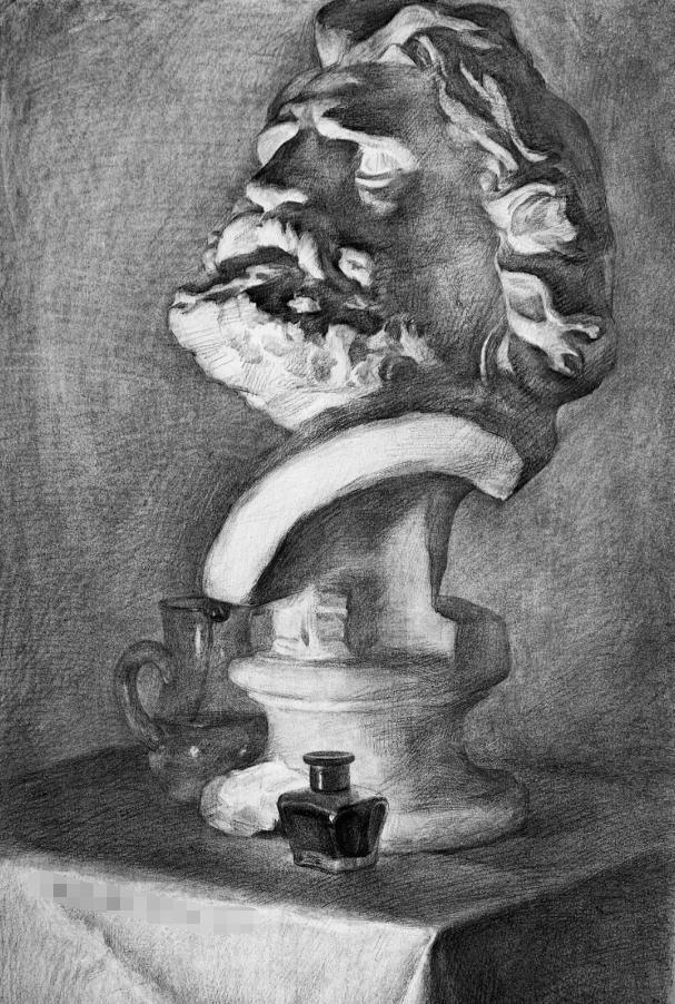 杭州艺考画室素描教程:素描关系是深入刻画的合理,04