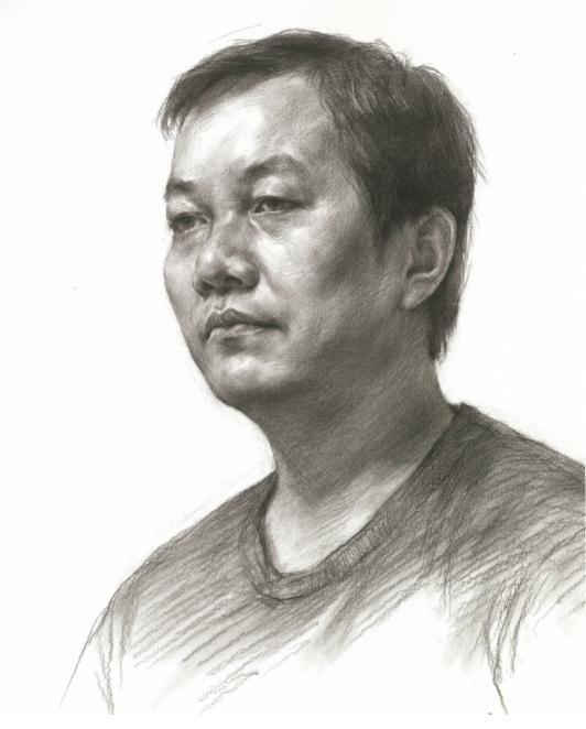 杭州艺考画室教你素描头像刻画之老中青的皮肤质感如何表现,06