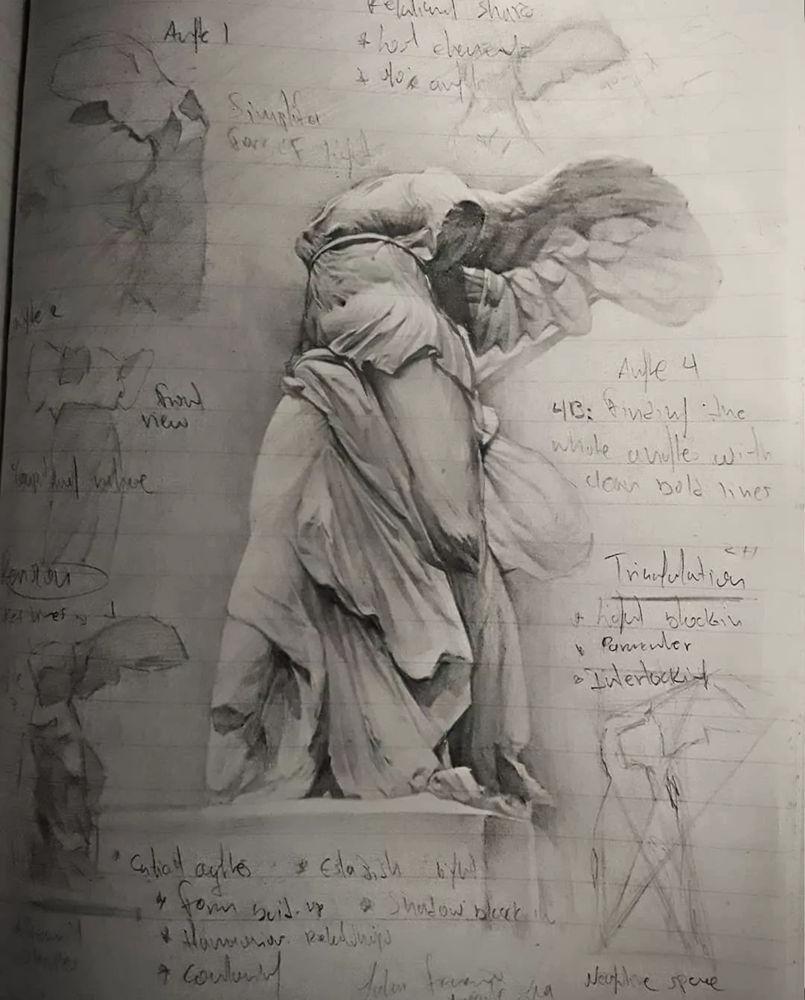 杭州艺考画室整理的一眼就爱的素描,这松动的笔触绝了,42