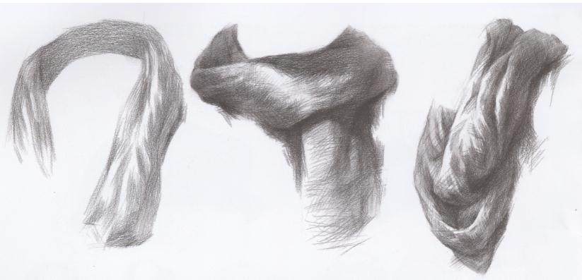 杭州艺考画室教你刻画素描头像中的眼镜、帽子和围巾,05