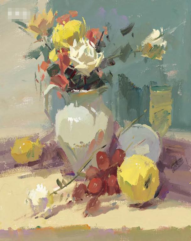 杭州艺考画室色彩静物教程:水果的暗部总是画得脏兮兮的,14