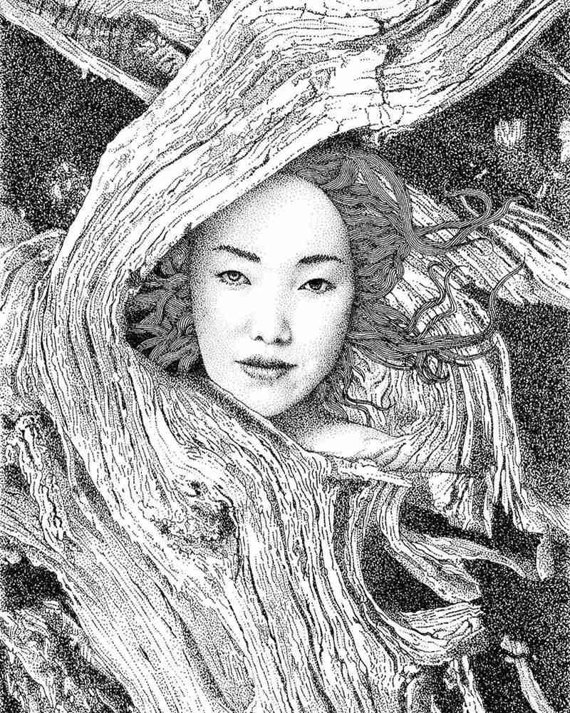 杭州艺考画室给你分享一幅素描人物需要花上100多万笔,17