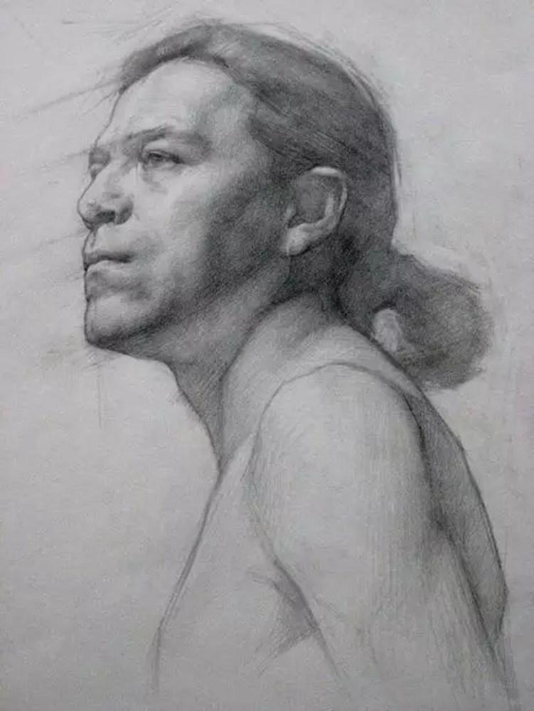 如何处理好人物素描的头像?杭州艺考画室带你看看这些作品,16