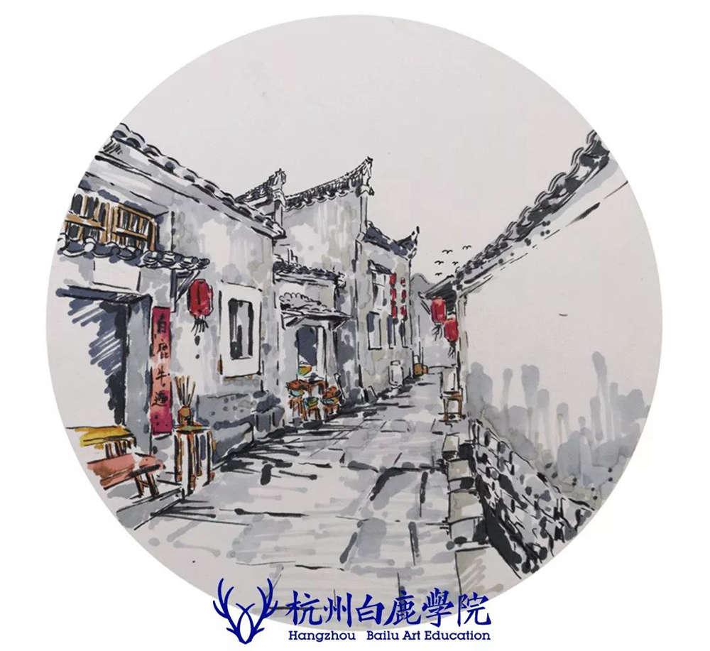 杭州艺考画室写生季 | 杭州白鹿学院下乡写生通知及注意事项,86