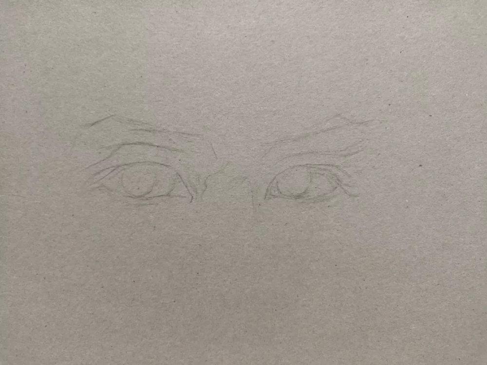 杭州艺考画室彩铅教程|画一双男神的眼睛,02