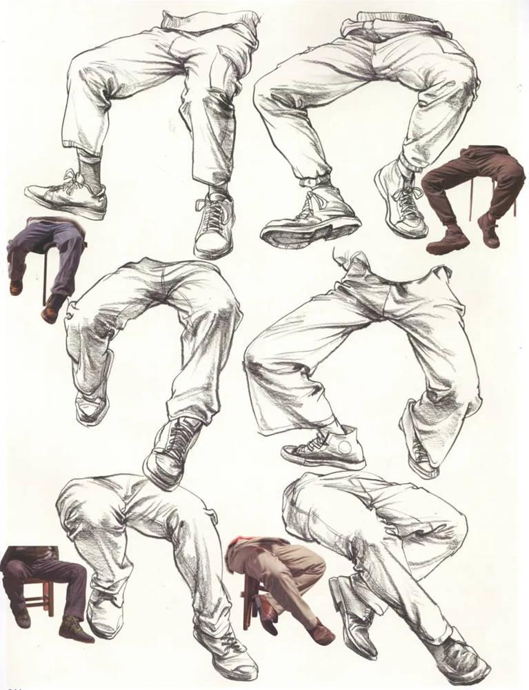 杭州艺考画室超强干货丨速写下肢怎么画?观察是关键,14