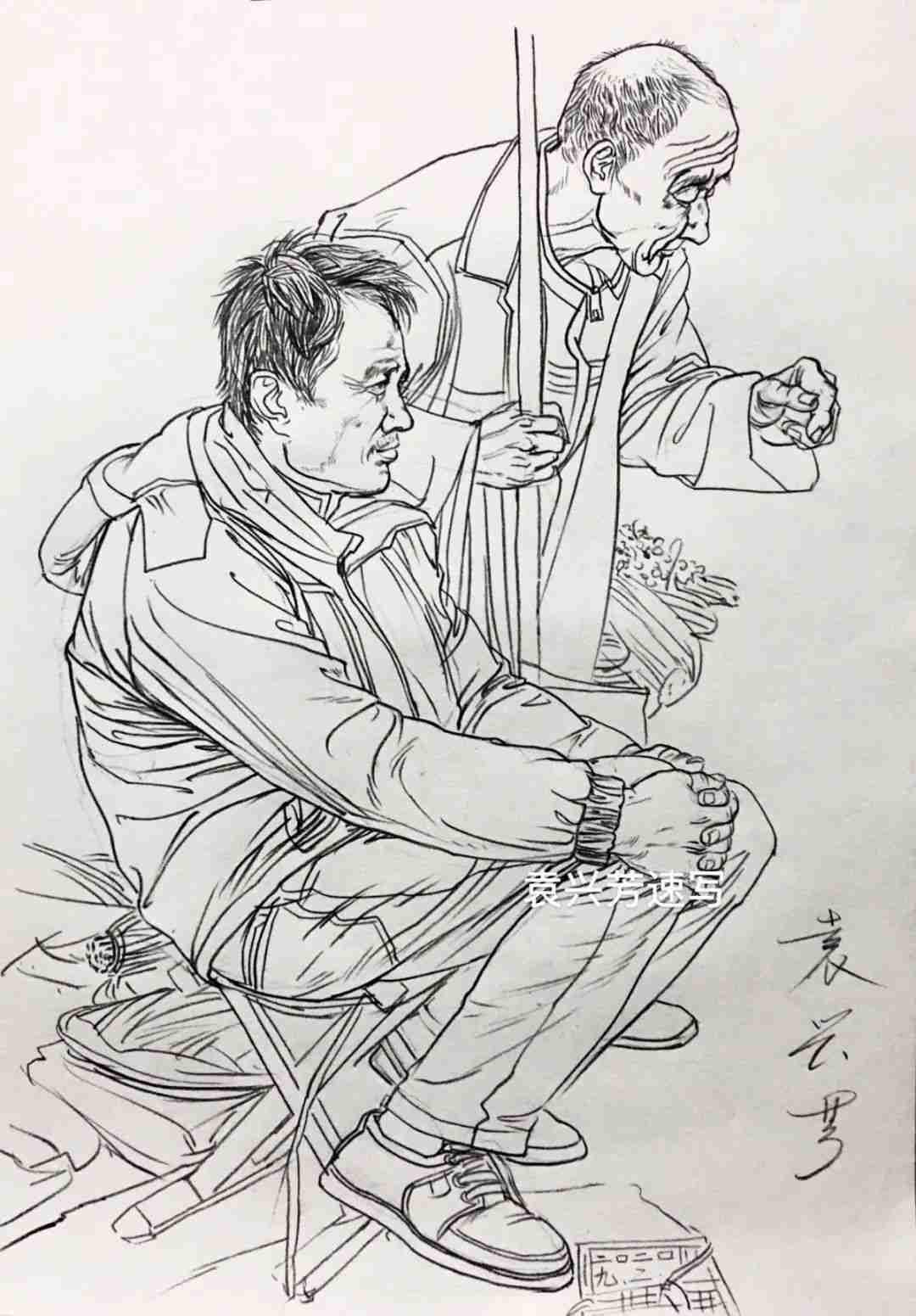 杭州画室集训班速写名师——袁兴芳作品集,10