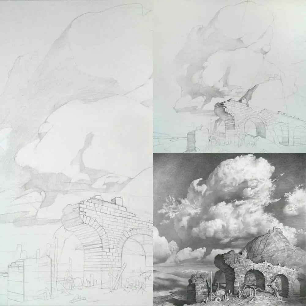 素描这样处理光影,很出彩,杭州艺考画室建议收藏,34