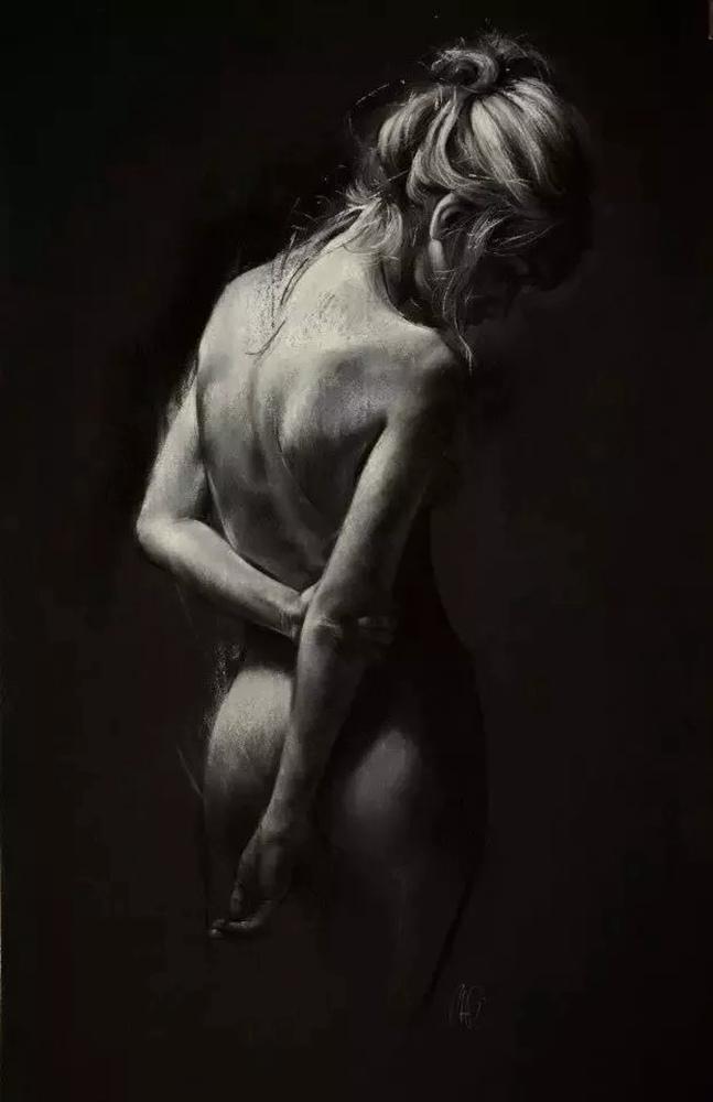 杭州艺考画室给你造型生动,百看不厌的62幅人体素描,03