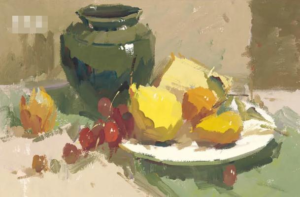 杭州艺考画室色彩静物教程:水果的暗部总是画得脏兮兮的,10