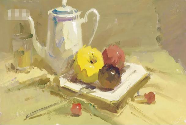 杭州艺考画室色彩静物教程:水果的暗部总是画得脏兮兮的,08
