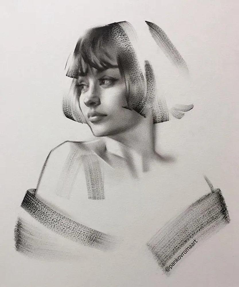 杭州艺考画室整理的一眼就爱的素描,这松动的笔触绝了,01