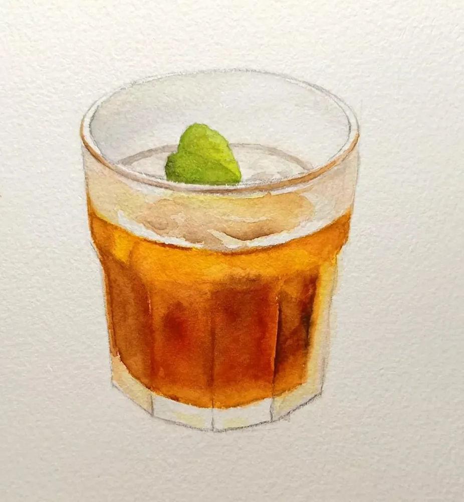 杭州艺考画室水彩教程 | 一杯沁人心扉的凉饮 画法步骤,06