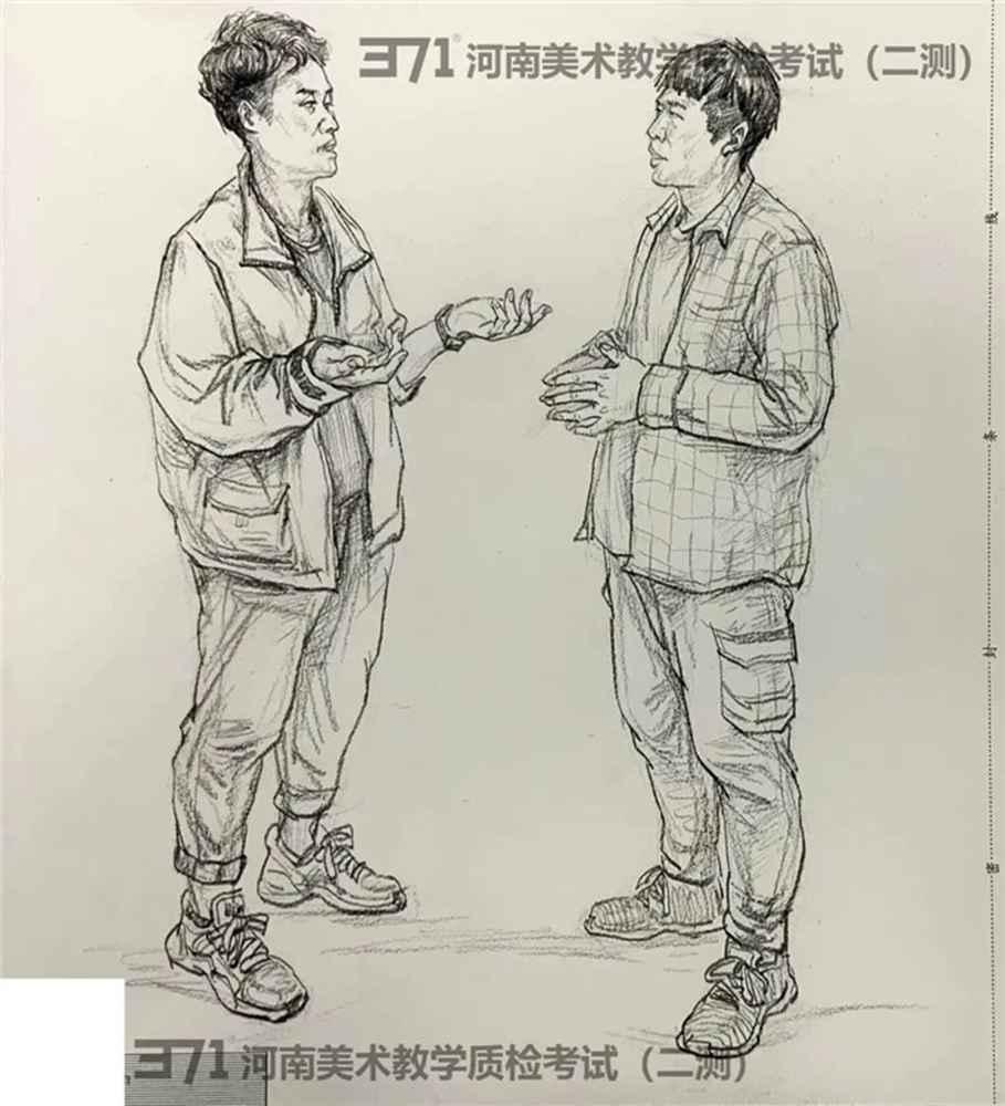 为更好的打磨自己,杭州画室集训班分享2021届河南省二模高分卷,03