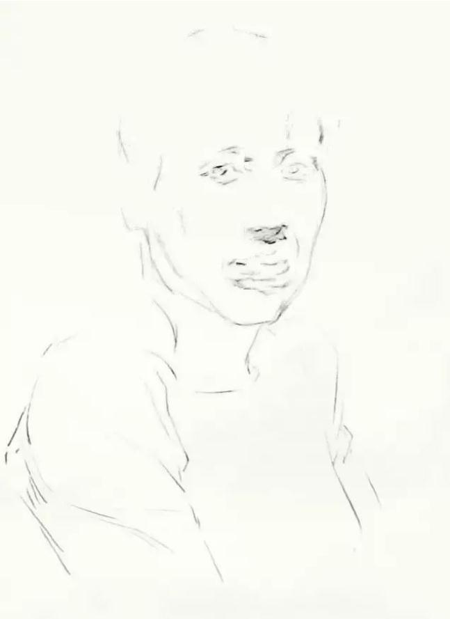 杭州艺考画室素描教学|教你画正面微侧的长发女中年肖像,03