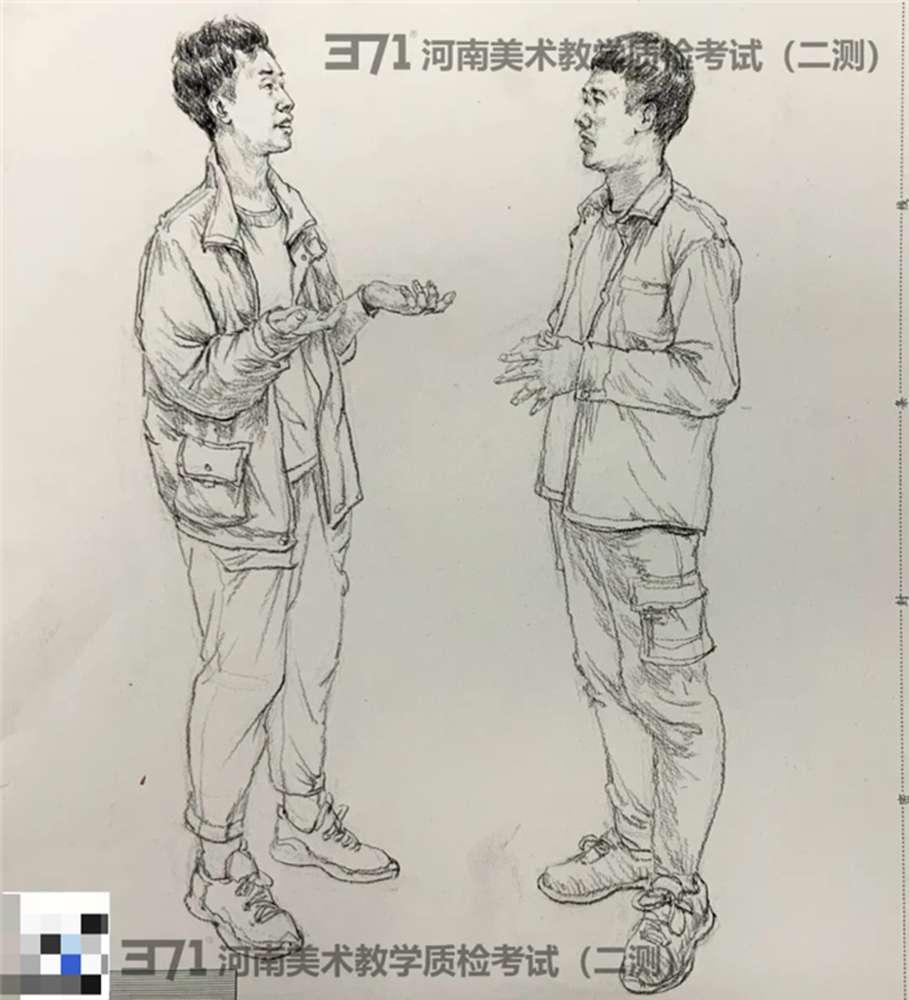 为更好的打磨自己,杭州画室集训班分享2021届河南省二模高分卷,13