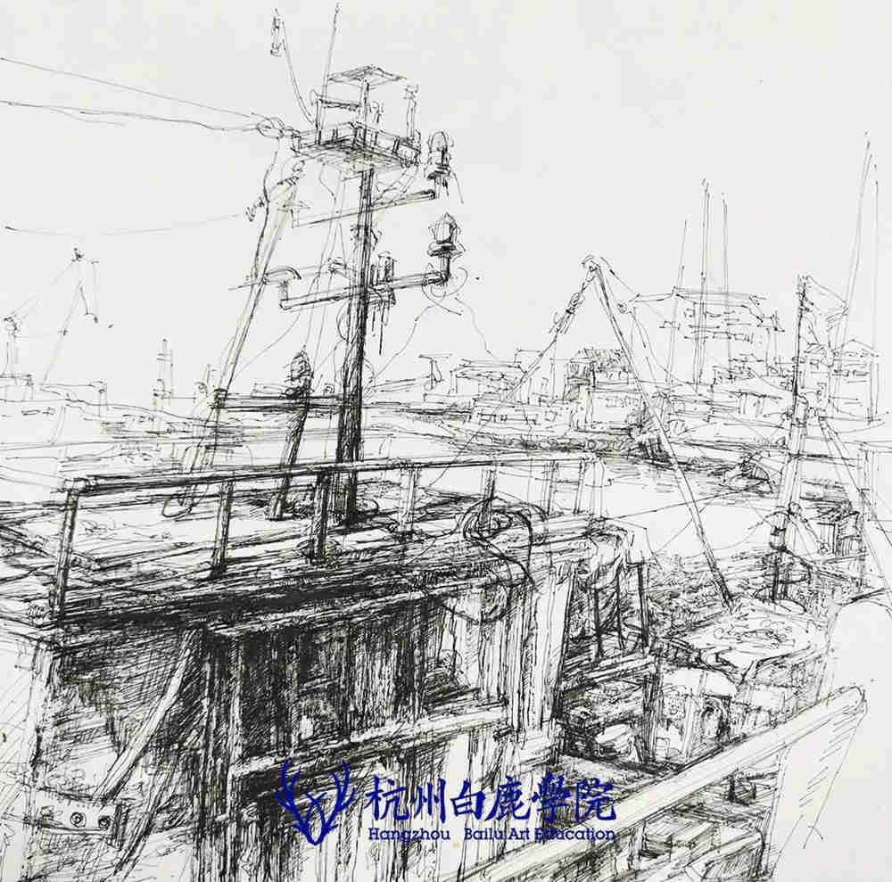 杭州艺考画室写生季 | 杭州白鹿学院下乡写生通知及注意事项,83