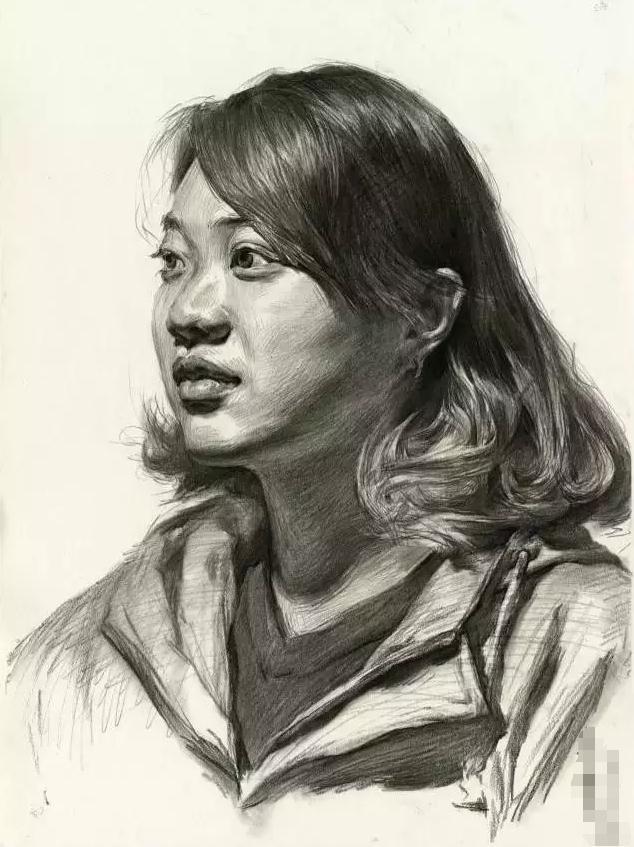 杭州艺考画室素描教学|教你画微胖女青年素描头像,01