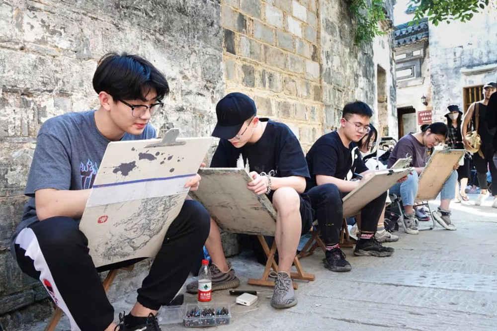 杭州艺考画室写生季 | 杭州白鹿学院下乡写生通知及注意事项,24