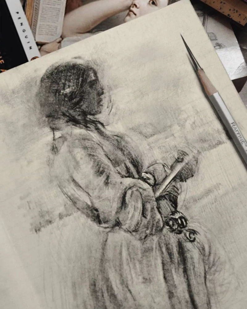 杭州艺考画室整理的一眼就爱的素描,这松动的笔触绝了,53