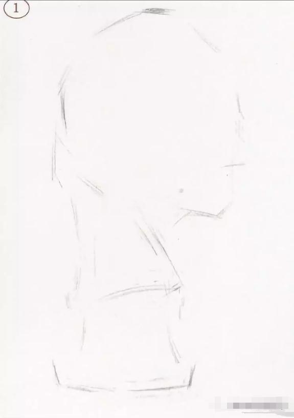 素描石膏头像 ,杭州艺考画室伏尔泰作画思路讲解,02