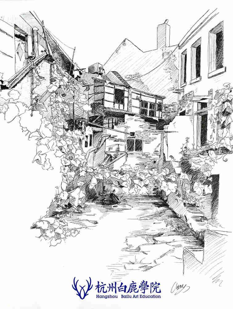 杭州艺考画室写生季 | 杭州白鹿学院下乡写生通知及注意事项,70