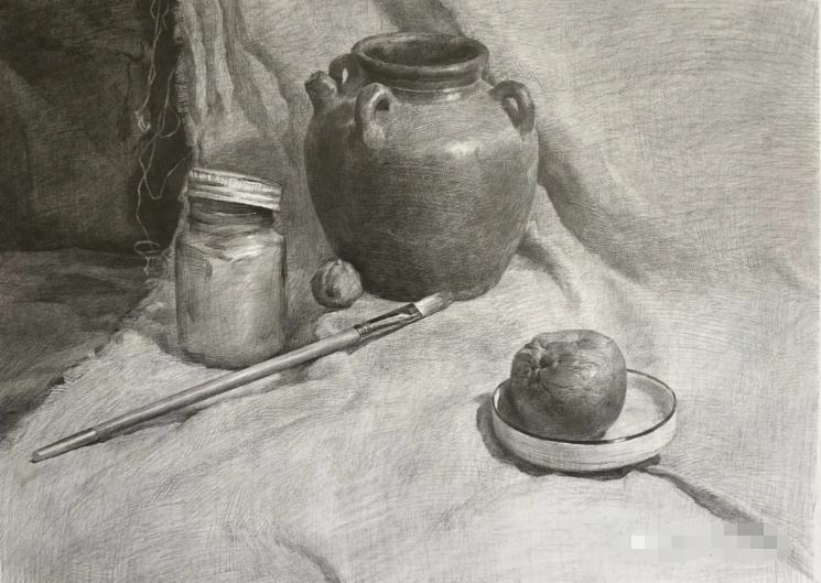 杭州艺考画室素描教程:素描关系是深入刻画的合理,08