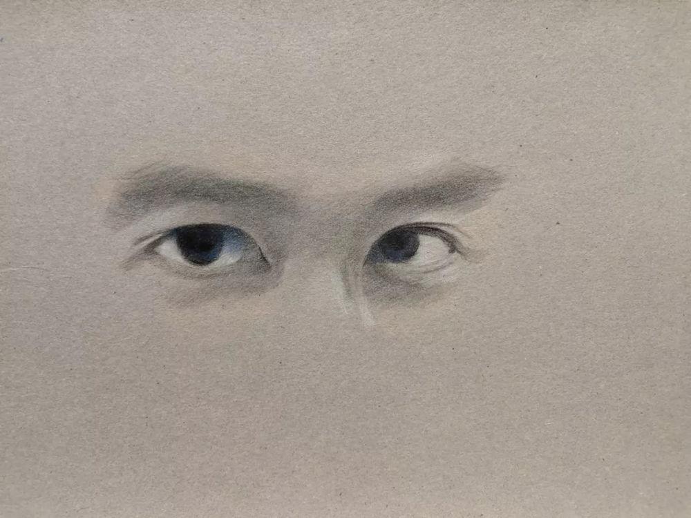 杭州艺考画室彩铅教程|画一双男神的眼睛,08
