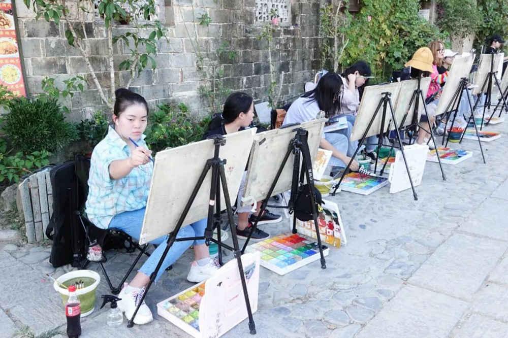 杭州艺考画室写生季 | 杭州白鹿学院下乡写生通知及注意事项,30