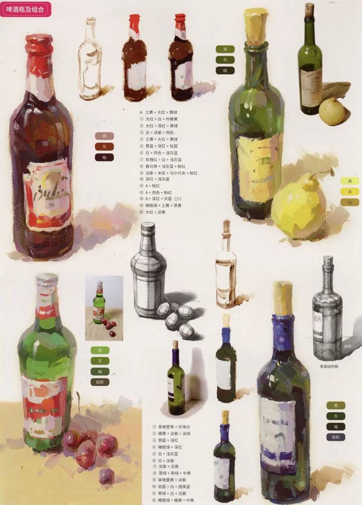 陶瓷、玻璃,金属这些难画的物品,杭州艺考画室给你解析,13