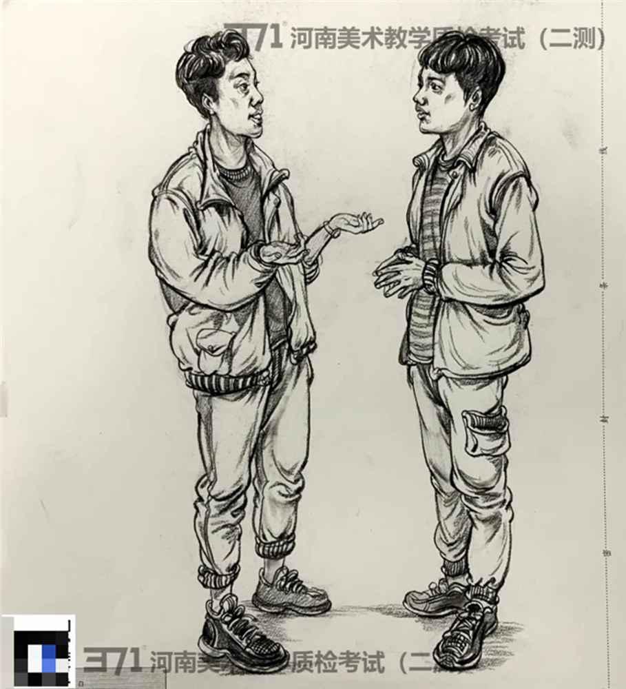 为更好的打磨自己,杭州画室集训班分享2021届河南省二模高分卷,07