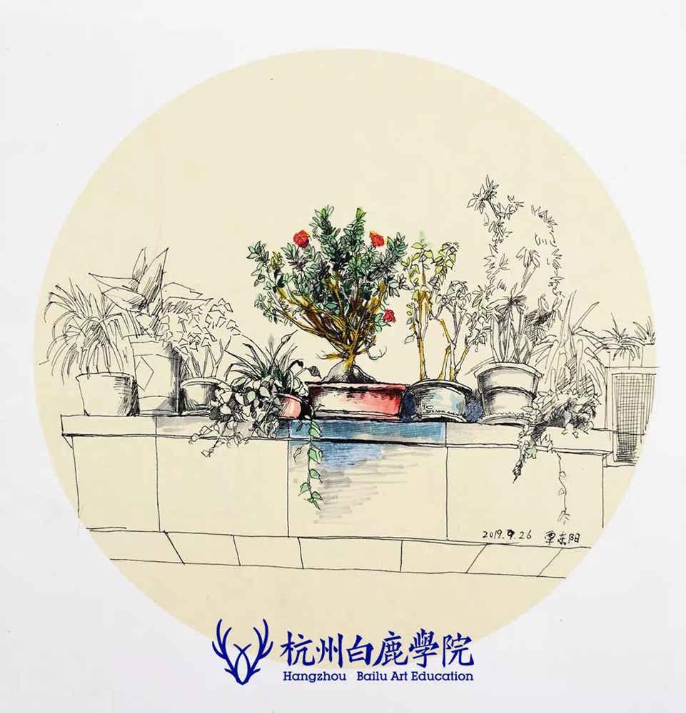 杭州艺考画室写生季 | 杭州白鹿学院下乡写生通知及注意事项,74