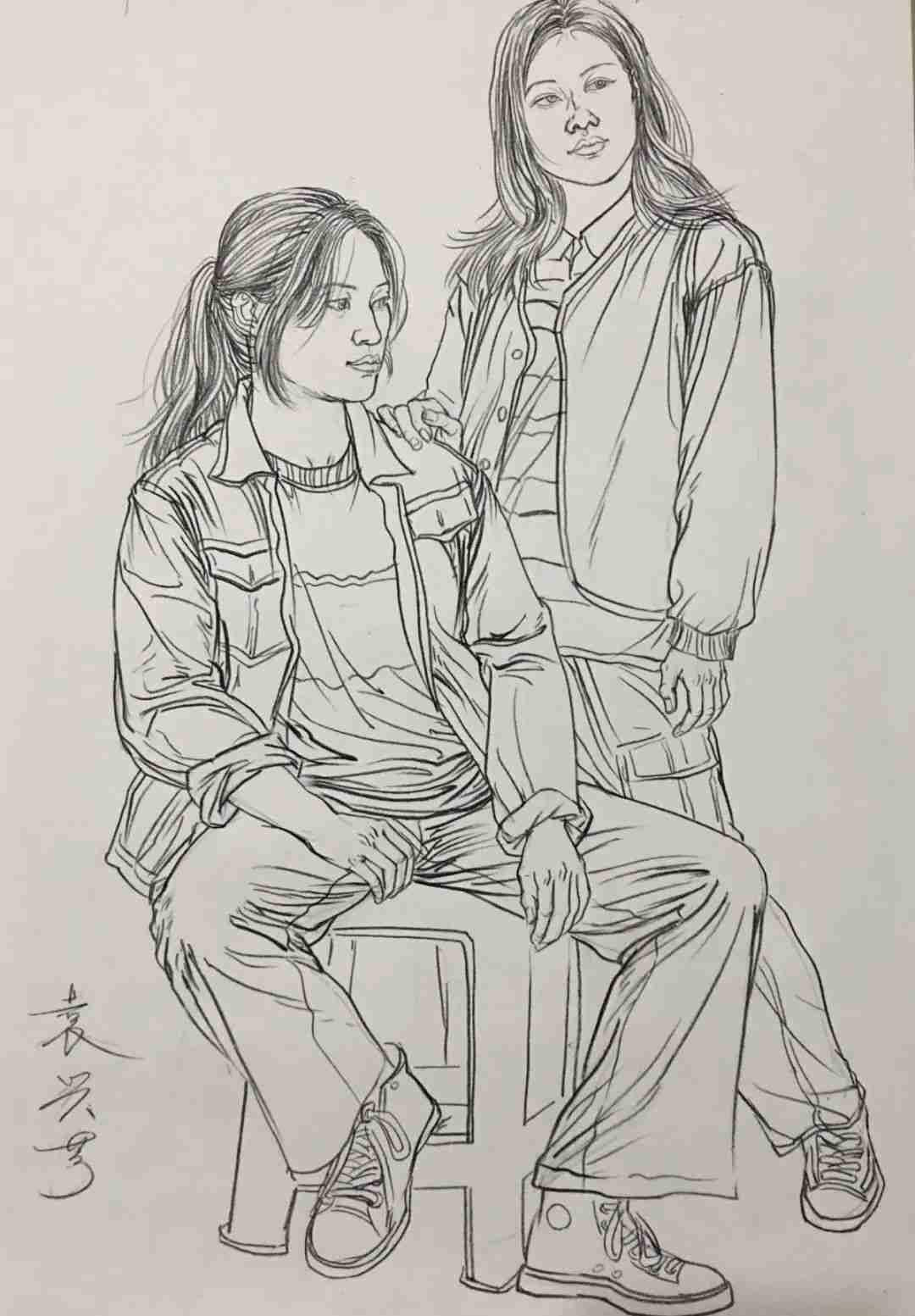 杭州画室集训班速写名师——袁兴芳作品集,09
