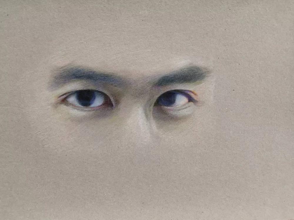 杭州艺考画室彩铅教程|画一双男神的眼睛,18