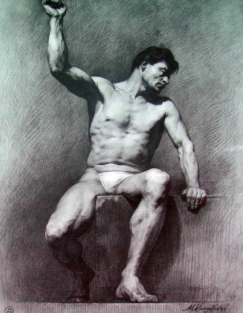 杭州艺考画室给你造型生动,百看不厌的62幅人体素描,25