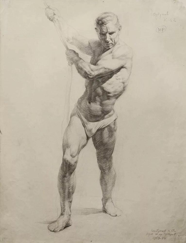 杭州艺考画室给你造型生动,百看不厌的62幅人体素描,07