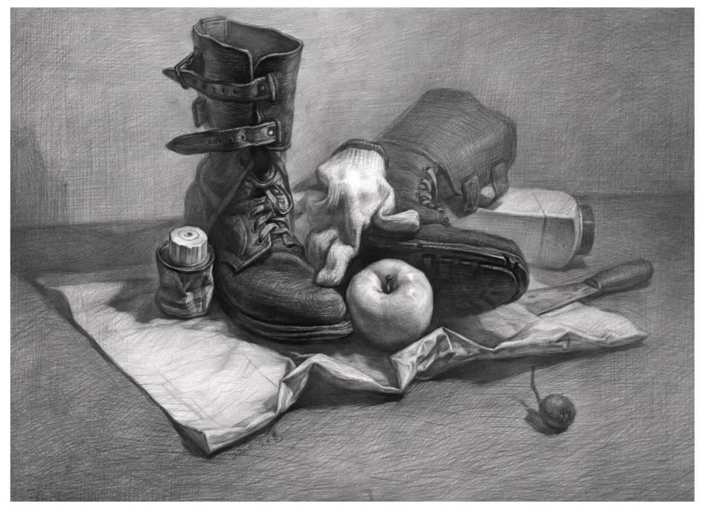 杭州艺考画室告诉你素描结构、色调、质感该如何表现?,16