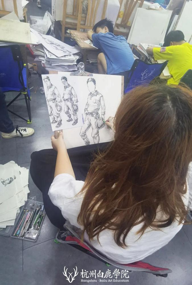 杭州艺考画室日常 | 你说美术生考大学很容易?要不你来试一试,23