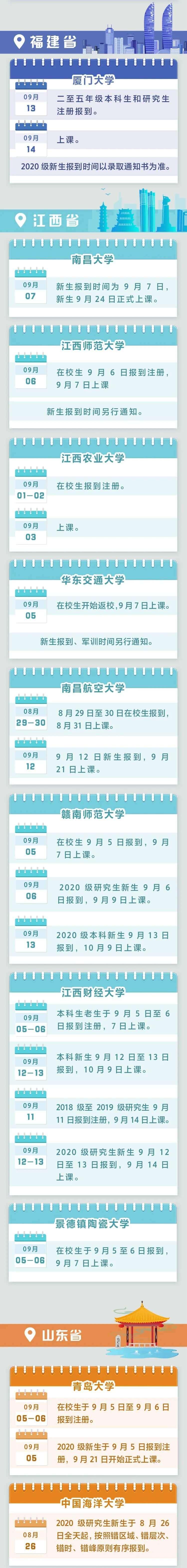 杭州艺考画室快讯|最新!全国各高校开学时间汇总来啦,05