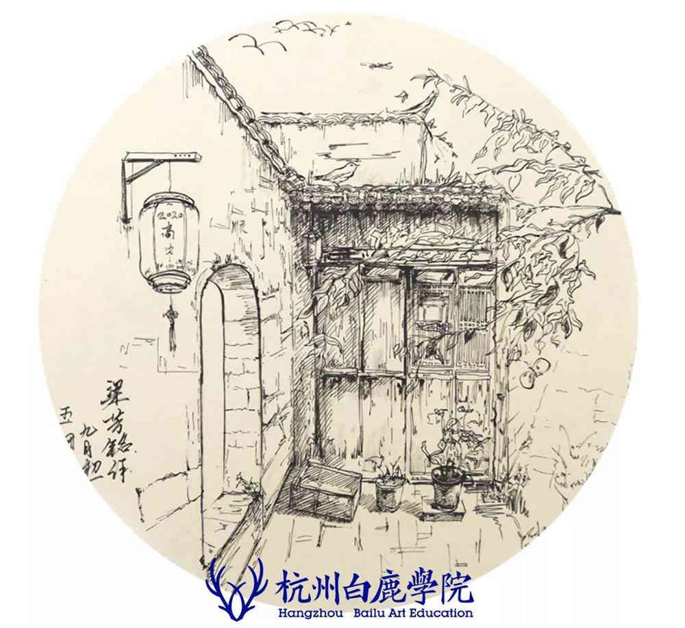 杭州艺考画室写生季 | 杭州白鹿学院下乡写生通知及注意事项,89