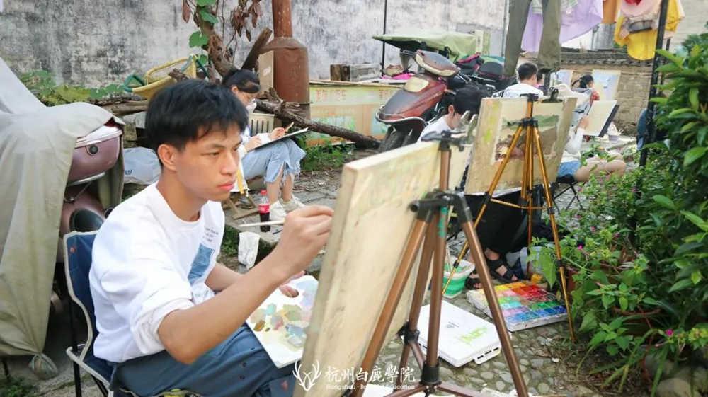 杭州艺考画室白鹿写生季 | 秋天的第一场写生未完待续,50
