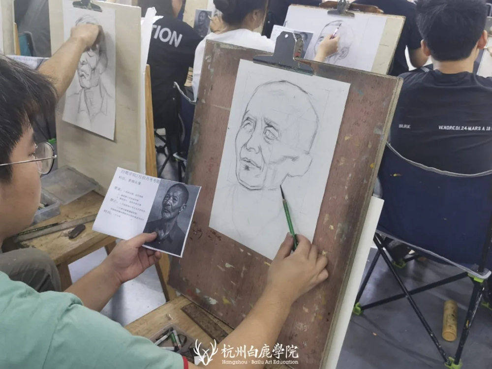 杭州白鹿日常 | 你说艺考美术生考大学很容易?你来试一试,30