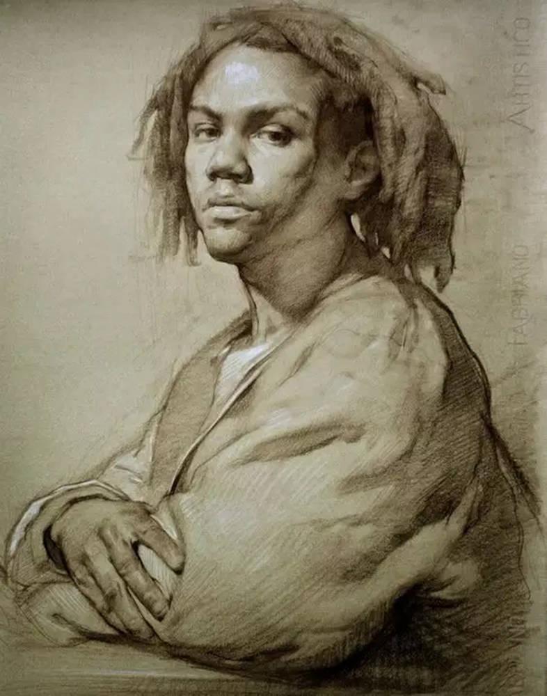 如何处理好人物素描的头像?杭州艺考画室带你看看这些作品,13