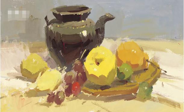 杭州艺考画室色彩静物教程:水果的暗部总是画得脏兮兮的,13