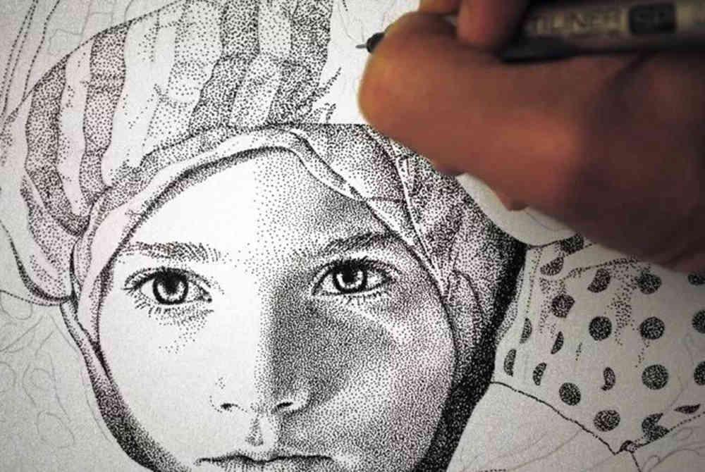 杭州艺考画室给你分享一幅素描人物需要花上100多万笔,18