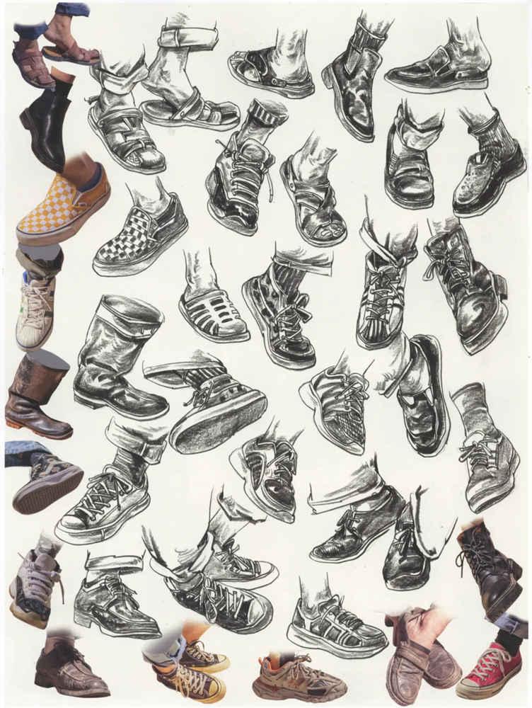 杭州艺考画室干货丨速写脚部很难?送你一百双鞋子的范画,06