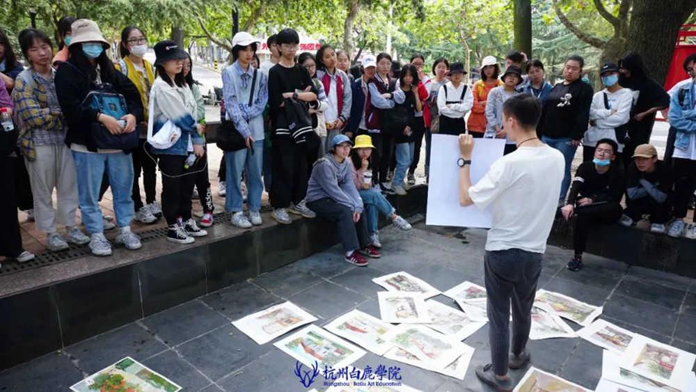 杭州艺考画室白鹿写生季 | 秋天的第一场写生未完待续,16