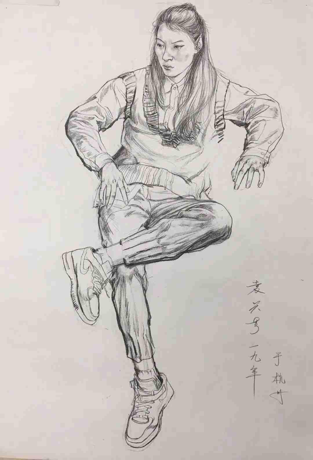 杭州画室集训班速写名师——袁兴芳作品集,23