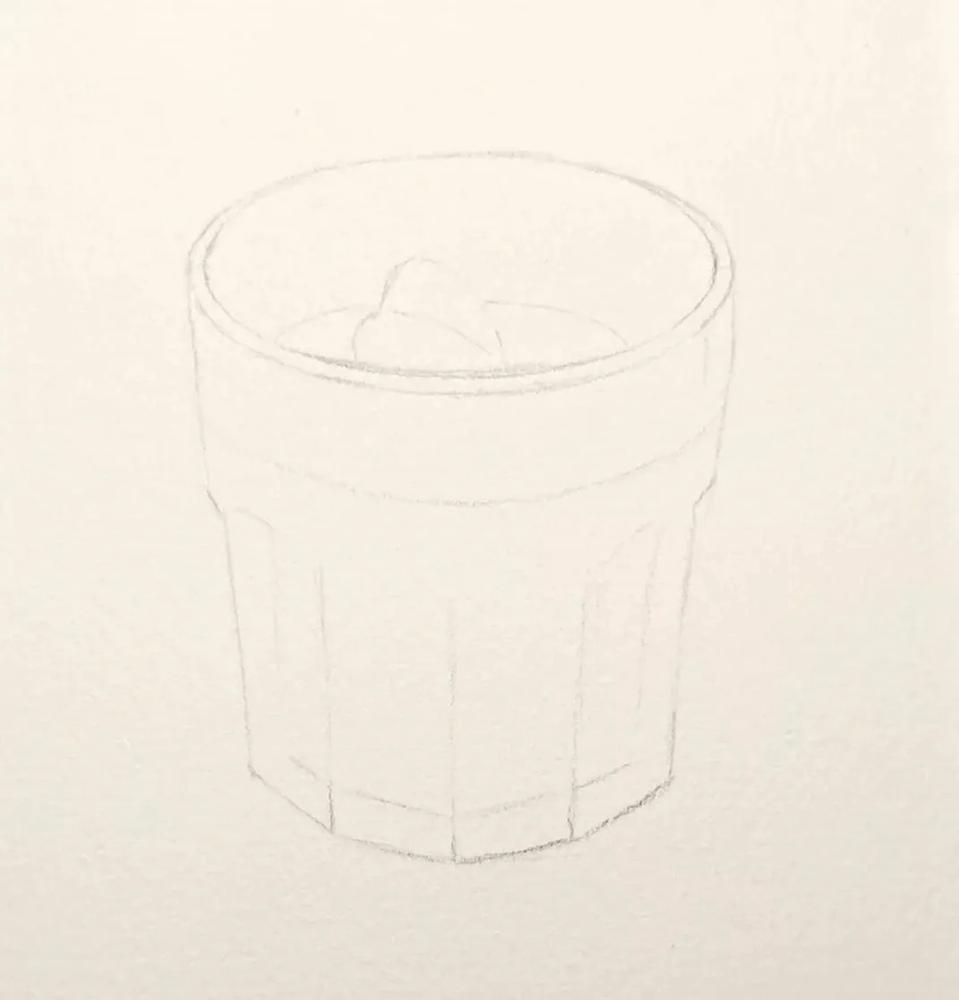 杭州艺考画室水彩教程 | 一杯沁人心扉的凉饮 画法步骤,02